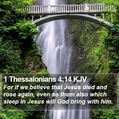 1 Thessalonians 4:14 KJV Bible Verse Image