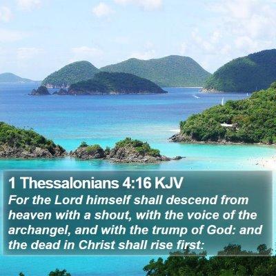 1 Thessalonians 4:16 KJV Bible Verse Image