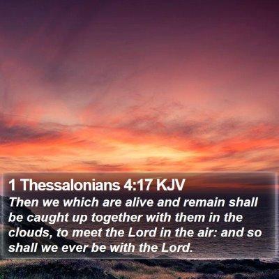 1 Thessalonians 4:17 KJV Bible Verse Image