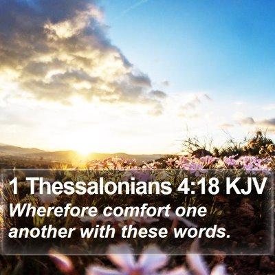 1 Thessalonians 4:18 KJV Bible Verse Image