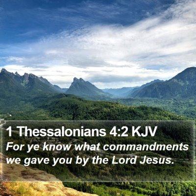 1 Thessalonians 4:2 KJV Bible Verse Image