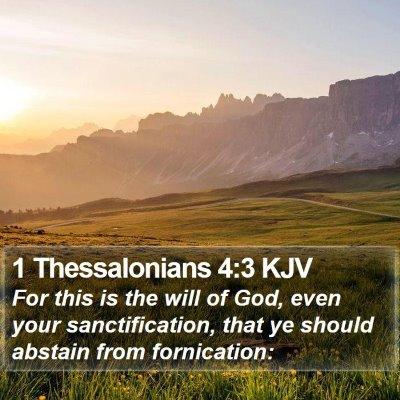 1 Thessalonians 4:3 KJV Bible Verse Image
