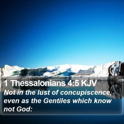 1 Thessalonians 4:5 KJV Bible Verse Image