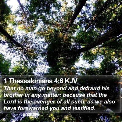 1 Thessalonians 4:6 KJV Bible Verse Image