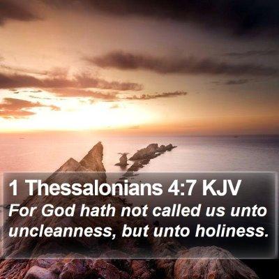 1 Thessalonians 4:7 KJV Bible Verse Image