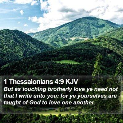 1 Thessalonians 4:9 KJV Bible Verse Image