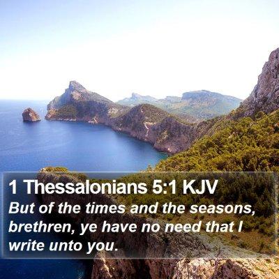 1 Thessalonians 5:1 KJV Bible Verse Image