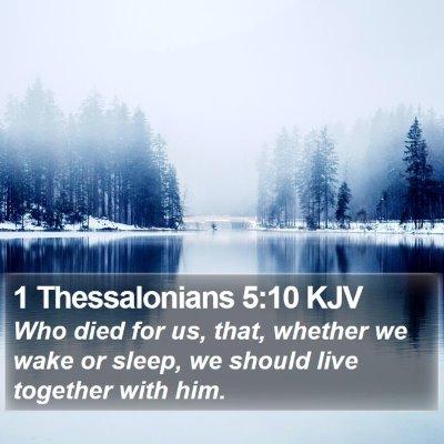 1 Thessalonians 5:10 KJV Bible Verse Image
