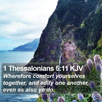 1 Thessalonians 5:11 KJV Bible Verse Image