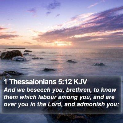1 Thessalonians 5:12 KJV Bible Verse Image