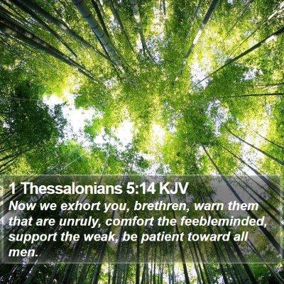 1 Thessalonians 5:14 KJV Bible Verse Image