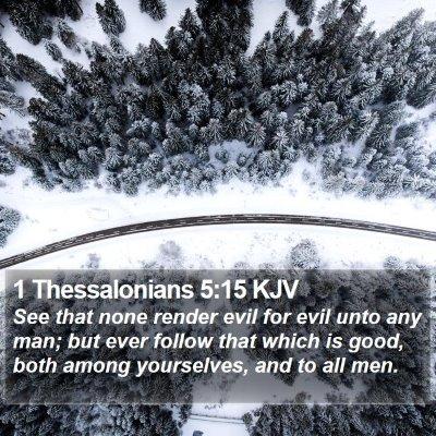 1 Thessalonians 5:15 KJV Bible Verse Image