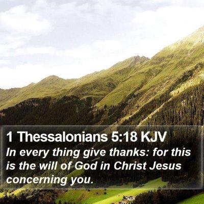 1 Thessalonians 5:18 KJV Bible Verse Image