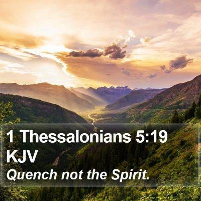 1 Thessalonians 5:19 KJV Bible Verse Image