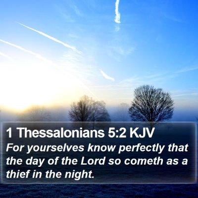 1 Thessalonians 5:2 KJV Bible Verse Image