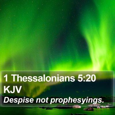 1 Thessalonians 5:20 KJV Bible Verse Image