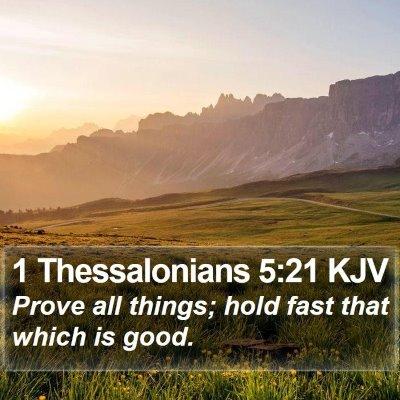 1 Thessalonians 5:21 KJV Bible Verse Image
