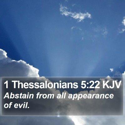 1 Thessalonians 5:22 KJV Bible Verse Image