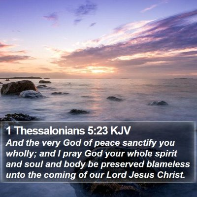 1 Thessalonians 5:23 KJV Bible Verse Image