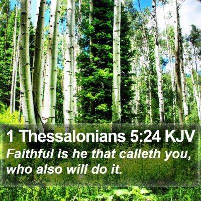 1 Thessalonians 5:24 KJV Bible Verse Image