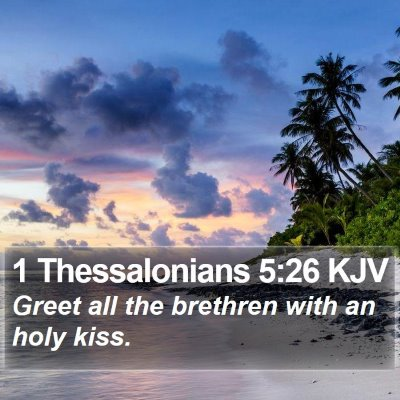 1 Thessalonians 5:26 KJV Bible Verse Image