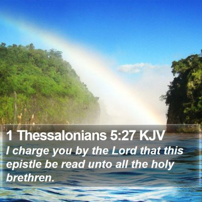 1 Thessalonians 5:27 KJV Bible Verse Image
