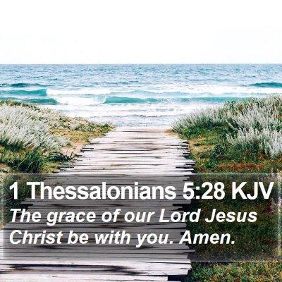 1 Thessalonians 5:28 KJV Bible Verse Image