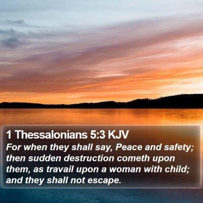 1 Thessalonians 5:3 KJV Bible Verse Image