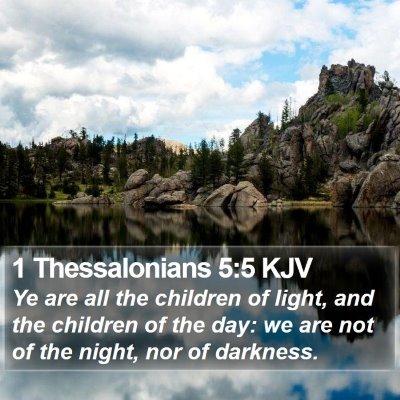 1 Thessalonians 5:5 KJV Bible Verse Image