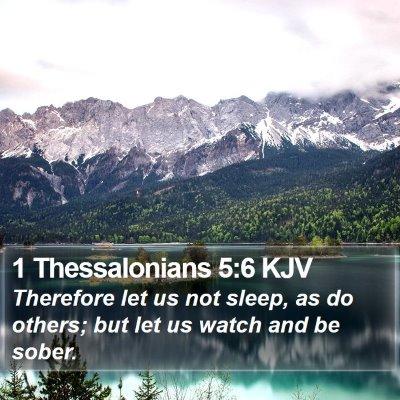 1 Thessalonians 5:6 KJV Bible Verse Image