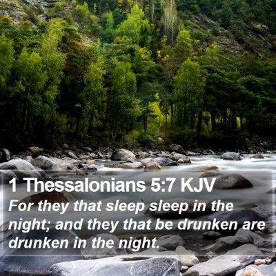 1 Thessalonians 5:7 KJV Bible Verse Image