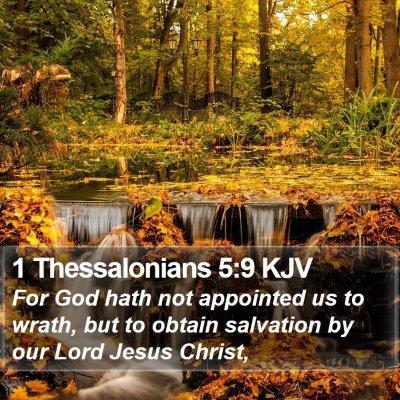 1 Thessalonians 5:9 KJV Bible Verse Image