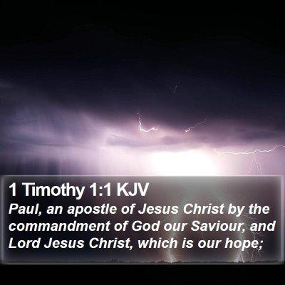 1 Timothy 1:1 KJV Bible Verse Image
