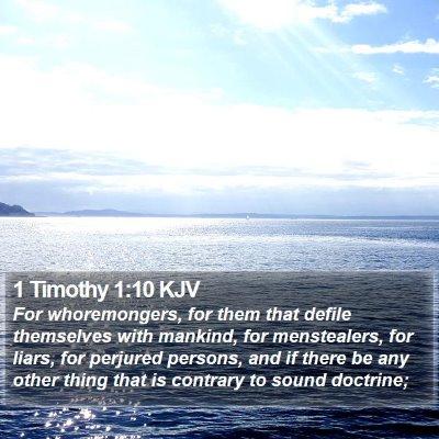 1 Timothy 1:10 KJV Bible Verse Image