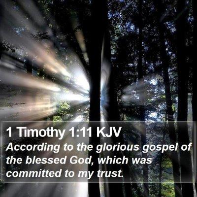 1 Timothy 1:11 KJV Bible Verse Image