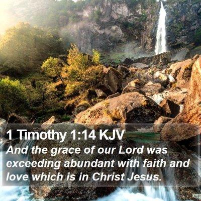 1 Timothy 1:14 KJV Bible Verse Image
