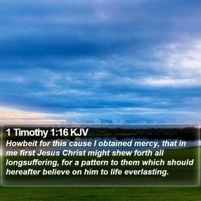 1 Timothy 1:16 KJV Bible Verse Image