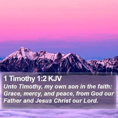 1 Timothy 1:2 KJV Bible Verse Image