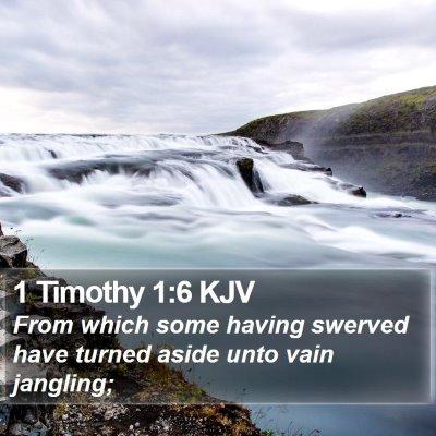 1 Timothy 1:6 KJV Bible Verse Image