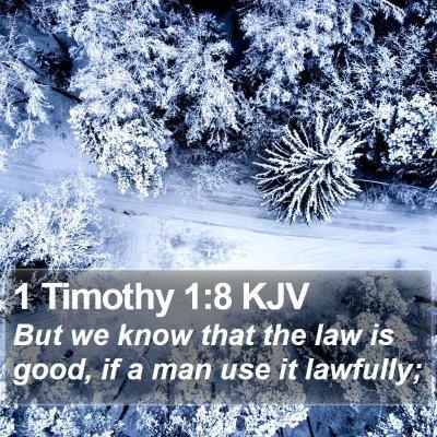 1 Timothy 1:8 KJV Bible Verse Image