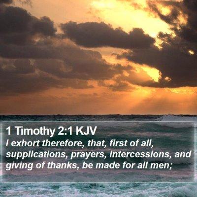 1 Timothy 2:1 KJV Bible Verse Image
