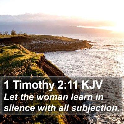 1 Timothy 2:11 KJV Bible Verse Image