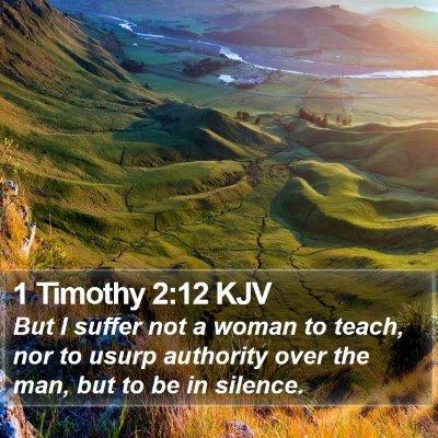 1 Timothy 2:12 KJV Bible Verse Image