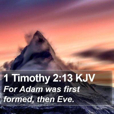 1 Timothy 2:13 KJV Bible Verse Image