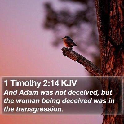 1 Timothy 2:14 KJV Bible Verse Image