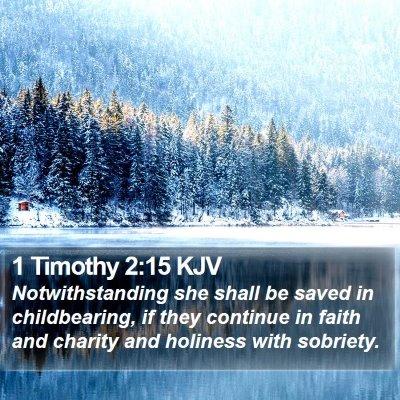 1 Timothy 2:15 KJV Bible Verse Image