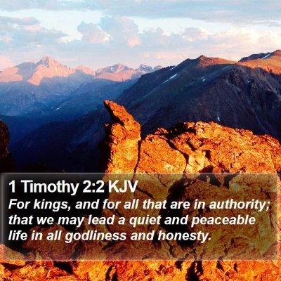 1 Timothy 2:2 KJV Bible Verse Image