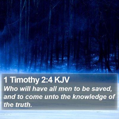 1 Timothy 2:4 KJV Bible Verse Image