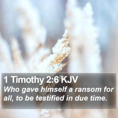 1 Timothy 2:6 KJV Bible Verse Image