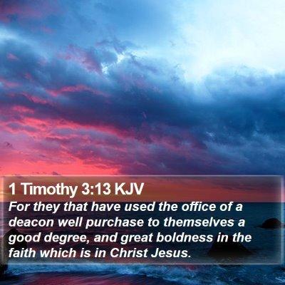 1 Timothy 3:13 KJV Bible Verse Image